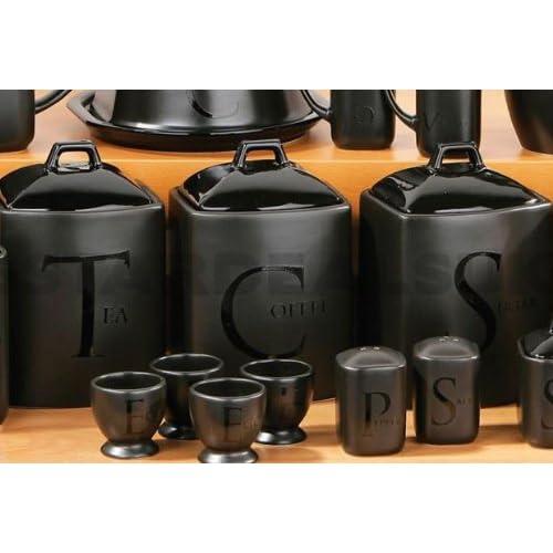 Black Kitchen Canisters: Amazon.co.uk
