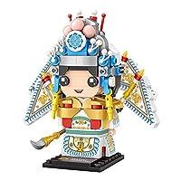 HIL 北京オペラタケブ微粒子木製ブロック大人のおもちゃマイクロドリル粒子組み立てられたビルディングブロックABS素材教育用ビルディングブロックおもちゃ子供のおもちゃクリエイティブギフト