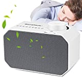 White Noise Machine, BizoeRade Sound Machine with Non-Looping Soothing Sounds and Sleep Timer Function Professional for Sleeping and Relaxation - Suitable for Baby Kids and Adults