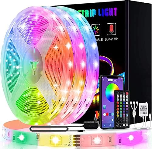 Ruban LED 15M, L8star LED Ruban Intelligent led chambre 5050 RGB SMD Multicolore Décorative Bande LED Lumineuse avec Télécommande changement