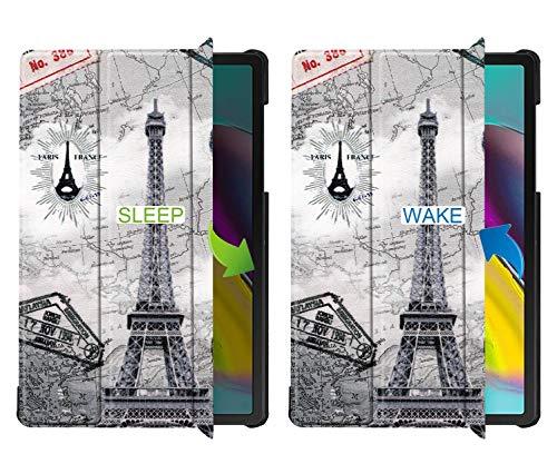 Slabo Tablet Hülle Case für Samsung Galaxy Tab S5e 10.5 Zoll T720   T725 (2019) Schutzhülle mit Auto Sleep Wake und Magnetverschluss - Paris Design