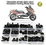 Felicey perfettamente applicabile Motociclo Accessori for la Yamaha Tmax 500 Tmax500 copertura 2001-2011 moto completa carenatura Kit Bulloneria Completo Cofano laterale Viti clip in acciaio Nuts desi