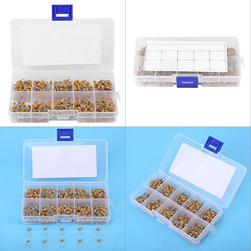 for Hobby Electronics, Audio-Video, Car Repair, 500pcs Capacitor Assorted Kit, Monolithic Ceramic Capacitor, Gift for Electronic Professionals