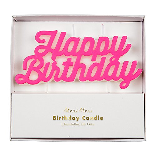 Meri Meri Pink Happy Birthday Candle