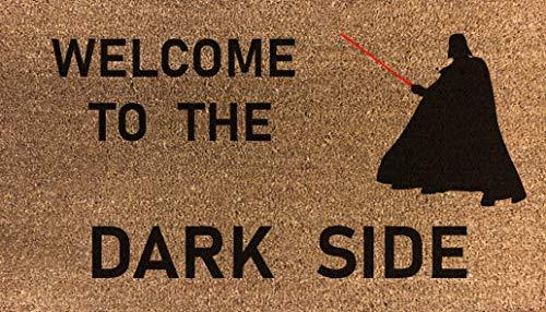 70 cm x 40 cm, diseño de Star Wars impreso interno de fibra de coco, Welcome to the Dark Side