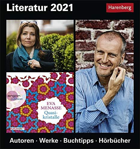 Literatur Kulturkalender 2021 - Tagesabreißkalender zum Aufstellen oder Aufhängen - Tischkalender mit Autorenzitaten und bekannten Romanauszügen - Format 15,4 x 16,5 cm