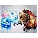 Pintura Digital Animal DIY Pintura Al Óleo para Adultos Niños Pintura por Número Kit Dormitorio Y Otra Decoración del Hogar 16 * 20 Pulgadas(Sin Marco)