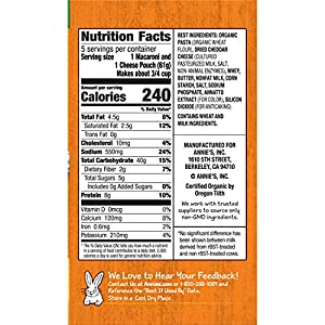 Annie's Real Aged Cheddar Microwavable Macaroni & Cheese, 10.7 Ounce, Pack of 6