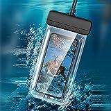 Bolsa Impermeable para Teléfono Móvil, Funda Impermeable, Universal iPhone 12 Pro / 11 / XS MAX/XR/X / 8 Plus, Galaxy S20, Huawei, etc. Adecuado para Exteriores, Viajes, Bañarse, Nadar, Playa.