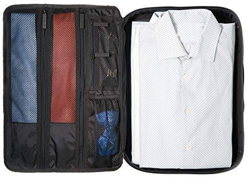DEGELER シャツ用バッグ 旅行中もドレスやワイシャツ、ブラウスのしわを防止 ー キャリーオン用としてガーメントバッグとパッキングオルガナイザーが一体化
