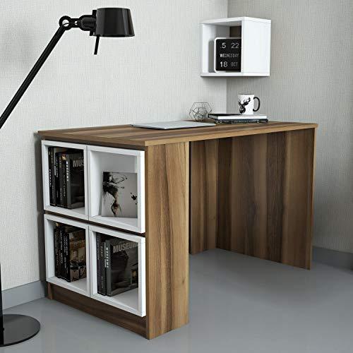 WoodenArt Bureau d'étude Noyer Blanche Box - Caja de madera de nogal, color blanco
