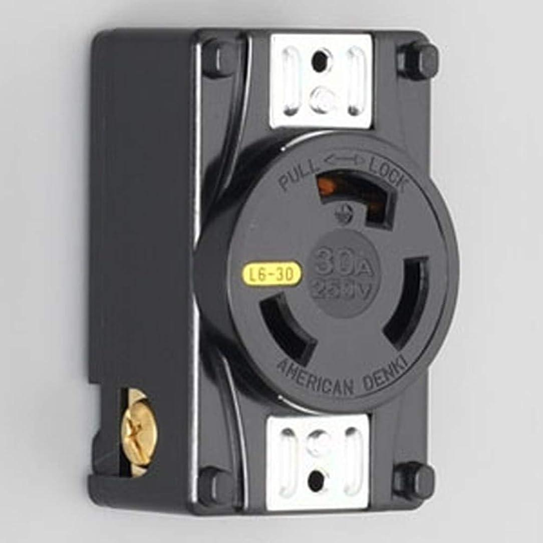 気づかないアブストラクト大使アメリカン電機 パネル用コンセント 引掛形 接地形2P 30A 250V 圧着端子式?引締式 NEMA(L6-30)規格 3320-P-L6