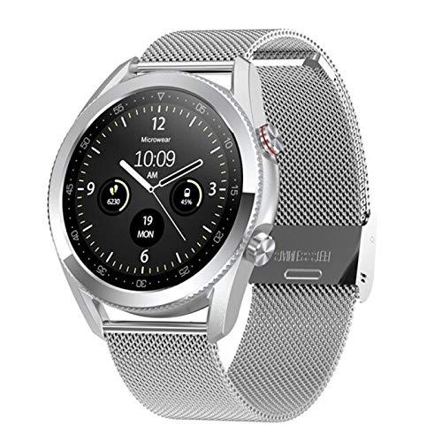 2021 Nuevo L19 Smart Watch 1.3 Pulgadas Screen Redonda De Alta Definición ECG Presión Arterial Sangre Oxygen Bluetooth Llamada para Android iOS,B