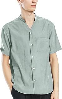 Men's Shirts New Summer Casual Short-Sleeved Shirt Fashion Cotton Linen Blouse Top