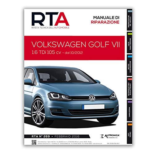 Manuale di Riparazione RTA 269 VOLKSWAGEN GOLF VII fase 1 (2012 - 2017)