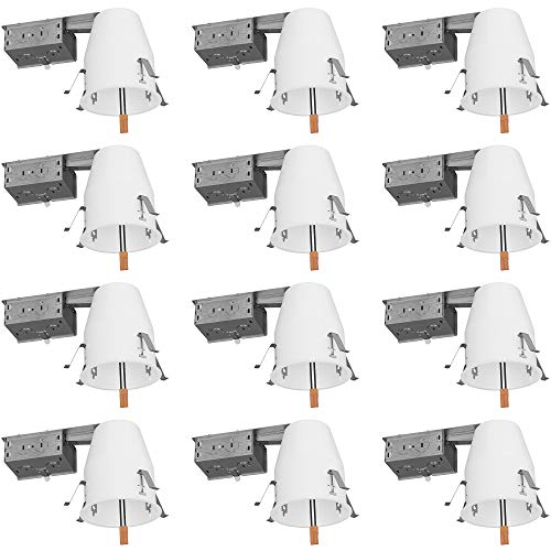 Sunco Lighting 12 Pack 4 Inch Remodel Housing, Air Tight IC Rated Steel Can, 120-277V, TP24 Connector Included for Easy Install - UL & Title 24 Compliant