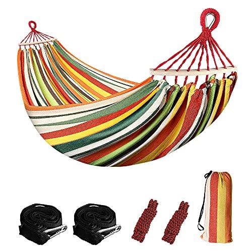 Sooair Amaca da Campeggio, Amaca da Viaggio, Materiale Paracadute in Nylon Traspirante e ad Asciugatura Rapida, 2 x Corde, Amaca da Esterno per Viaggio (vert)