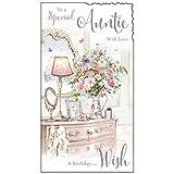 To a Special scritta in inglese 'Auntie', motivo: con amore, JJVM017)