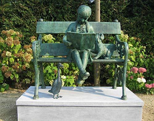 H. Packmor GmbH Décoration de jardin en bronze pour fille sur banc