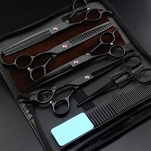 Tijera de peluquería profesional para zurdos, kit de corte de cabello, herramientas para el cabello, tijeras para el cabello, tijeras rectas, adelgazamiento, tijeras de peluquero, salón de 7.0 pulga
