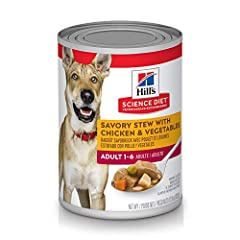 High-quality protein to help your adult dog build and maintain lean muscles Made with purposeful, easily digestible ingredients grown dogs enjoy Mix up meal time with Hill's Science Diet Adult Savory Stew with Beef & Vegetables Made with natural ingr...