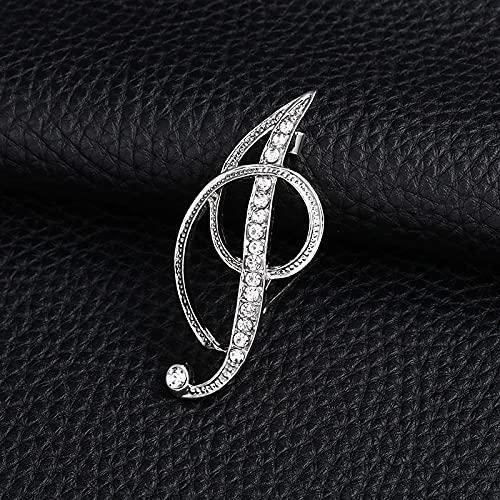 JJZXT Carta de la Moda Broche Lindo para Las Mujeres Hombres Rhinestones Color de Plata Metal Pines Tareas Joyería Accesorios (Color : I)