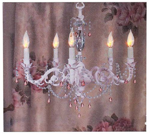 "Ohio Wholesale Shabby Chic Chandelier Lighted Canvas 12"" x 13"""