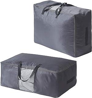 2 Stück Aufbewahrungstasche für Bettdecken Kissen Kleidung Bettwaren Aufbewahrungstasche Bettenaufbewahrungstasche 70x48x28cm