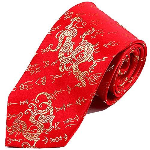 ZSRHH-Neckchiefs Halstücher China Wind Tie charakteristische Krawatte charakteristische Handwerk Geschenk senden Freund rote Orakel Krawatte