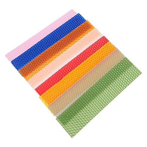 Artibetter 21 Piezas de Cera de Abejas Hoja Profesional de Cumpleaños Velas de Hanukah Hoja Colorida Haz Tu Propio Kit de Velas de Cera de Abejas para Tienda en Casa Color Mixto