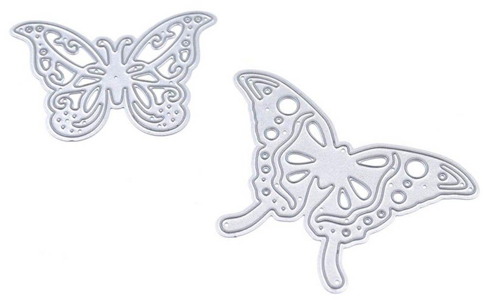 Rose de Summer 2Stk Mariposas Scrapbooking sello dichtungs transparente Cutting Muere Retro DIY álbum fotos Stanz Forma Decoración: Amazon.es: Oficina y papelería