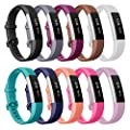 Henoda For Fitbit Alta HR and Alta Bands, Accessory Soft Silicone Replacement Wristband with Secure Metal Buckle Clasp for Fitbit Alta HR Sport Smart Watch 12 Color