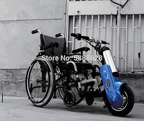 GNLIAN HUAHUA Silla de Ruedas eléctrica Tecnología Avanzada 12Inch 36V 400W Handcycle Handcycle Handbike eléctrico con la batería 12Ah Lista para Enviar al Aire Libre (Color : Blue)