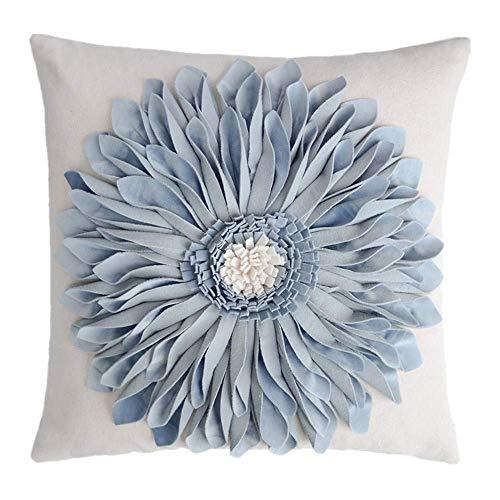 OiseauVoler かわいい 花柄 クッションカバー 抱き枕カバー 装飾枕ケース ナチュラル フラワー おしゃれ ルーム ソファ 車 椅子用 北欧 雑貨 部屋飾り 45 x 45cm