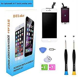 Premium Screen Replacement,Compatible iPhone 6 4.7 inch,LCD Replacement Screen with Touch Screen Digitizer Fram Assembly Full Set + Free Tools(White)