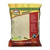 Arroz de jazmín Fairtrade orgánico 5 kg BIO arroz fragante, la mejor calidad tailandesa pelada aromática de alta calidad, comercio justo de Tailandia, sabor exquisito, ECOLÓGICO 5000 g extra limpios