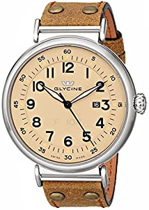 Glycine Men's 3932-15AT-LB7R F-104 Analog Display Swiss Automatic Brown Watch image