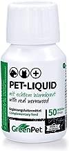 GreenPet 100% natürliches Wurm Pet-Liquid Tropfen Flüssig 50ml - Hunde, Katzen, Geflügel, Vögel, Kaninchen und Haustiere, Vor und bei Wurmbefall