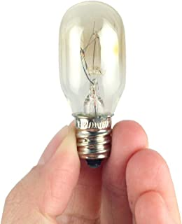 XuBa E12 110V 15W Bombilla Resistente A Temperatura de Cristal de Sal para Iluminación de Microondas En Horno Frigorífico
