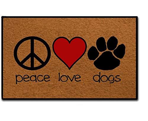 MsMr Entrance Doormat - Funny and Creative Doormat - Peace...
