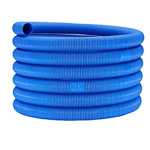 Beito Tuyau De Piscine Tuyau De Piscine Tuyau De Vidange d'eau Robuste Remplacement De Filtre De Piscine Tuyau en Spirale Bleu 32mm X 6.3 M
