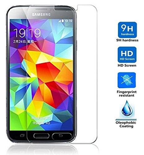 REY Protector de Pantalla para Samsung Galaxy S5 / S5 Neo Cristal Vidrio Templado Premium