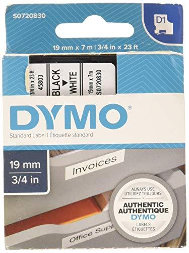 Dymo Standard Tape 2000/5500, 19 mm x 7 m, S0720830 - Schwarz auf weiß - Set von 5
