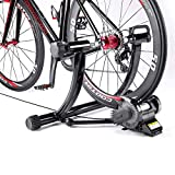 """Bike Trainer Stand fits 24"""" to 29"""" Bikes - Portable Magnetic Bicycle Rollers 5 Resistance Levels, Noise Reduction - Stationary Exercise for Road & Mountain Bikes (Bike Trainer)"""