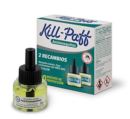 Kill Paff 08853 Insecticida Eléctrico Antimosquitos - 2 Recambios