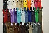 FIM - Cremallera reversible de plástico con dientes nº 5, cremallera con cremallera reversible divisible para chaquetas, 19 - azul oscuro (330), 19 – azul oscuro (330)., 50 cm