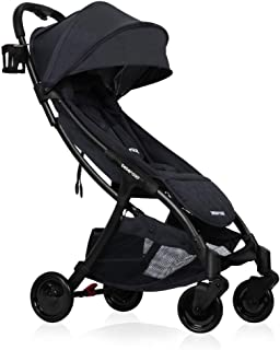 Lightweight Baby Stroller, Beberoad R2 Quick Fold Ultra Compact Travel Stroller with Extra-Large Waterproof and UV 50+ Canopy, All Wheels Suspension, Fits to Baggage Cabin, Apply to 0-36months(45LBS)