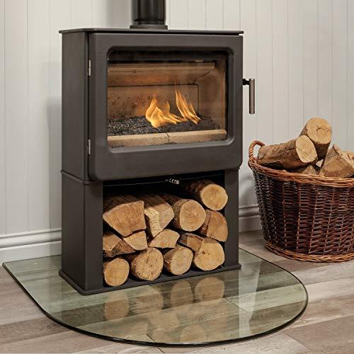 Mendip Ashcott Wood Burning Stove Glass Window Log Store 4.7kW Defra Approved