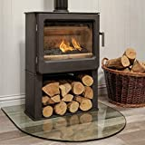 Mendip Ashcott Wood Burning Stove Glass Window Log Store 4.7kW Defra Approved