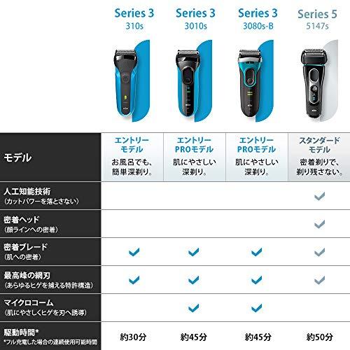 ブラウンメンズ電気シェーバーシリーズ33010s3枚刃水洗い/お風呂剃り可